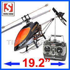 Double Horse 9100 Single Rotor RC Radio Control Gyro 3Ch Carbon Fibre Helicopter