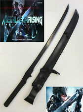 Metal Gear Solid Full Tang Ninja Sword w/ Black Leather Sheath & Single Stand