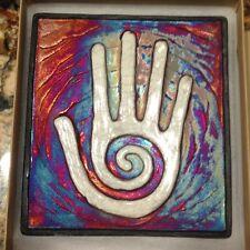 Healing Hand Raku Wall Art, Raku Pottery - handmade, handsigned - NEW