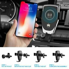 Qi Automatic Fast Charging Mount Wireless Car Charger Holder For iPhone Samsung