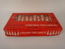 Vintage Christmas Tree Candle Lights 1970's 10 Light Strand Plastic Clips