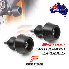 For Yamaha YZF R6  99-14 08 09 10 11 12 13 14 6MM CNC Black Swingarm Spools Set
