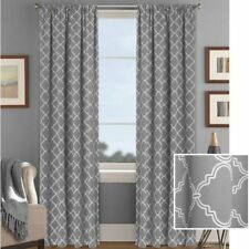 Better Homes and Gardens Trellis Room Darkening Curtain Panel Grey