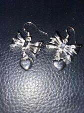 Silver Plated Butterfly/ Heart Earrings