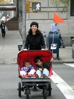 Stroller / Wheelchair Safety Flag - Easy Mount: Up, Right, or Left