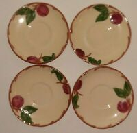 "Franciscan Earthenware Apple Saucer 5.75""Made in USA Hand Painted"