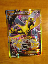 NM FULL ART Pokemon ALAKAZAM EX Card FATES COLLIDE Set 125/124 XY Secret Rare