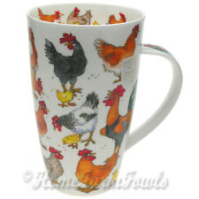 New large 600ml Dunoon Fine Bone China Mug /Chickens/Cluckers  by Cherry Denman