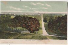 The Long Walk Windsor Castle F.G.O. Stuart 827 Postcard B804