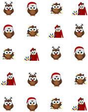 Christmas Owls  Waterslide Nail Decals/Nail art