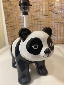 panda lamp light black white child Nursery target small No Shade