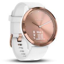 Garmin vivomove HR Hybrid Smartwatch, Small/Medium - Rose Gold/White
