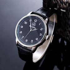 Benz Fashion Mens Watch Stainless Steel Brown / Black Leather Strap Wristwatch