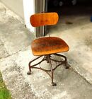Vintage Toledo Uhl Steel Metal Furniture Co. Swivel Drafting Stool Industrial