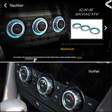 E234 Ein Bunte Ringe Lüftungsregler auto aufkleber car Sticker Neu für CX5 Mazda