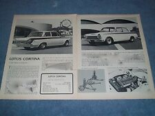 "1964 Lotus Cortina Vintage Road Test Info Article ""A Tiger Among the Puddycats"""