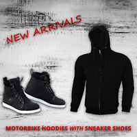 Motorbike Amoured Hoodie Jacket Waterproof Motorcycle Leather Boot Sneaker Shoes