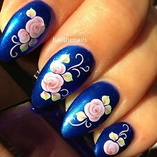 Nails Nail Art Water Transfers Decals Wraps Pink Rose Daisy Flower Y30 Wedding