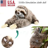 Cute Sloth Bradypod Plush Doll Wild Animal Stuffed Toy Kid Gift 30cm Non-toxic