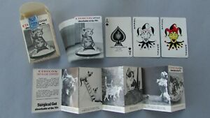 ETHICON CATGUT Playing Cards COMPLETE w/ Winning Captions Photo Folder & JOKERS
