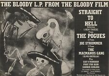 4/7/87PN29 ADVERT: STRAIGHT TO HELL ALBUM JOE STRUMMER & THE POGUES 7X11