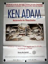 JAMES BOND 007 * KEN ADAM /Szenenbildner - PLAKAT 83x59cm A1 gefaltet 1994