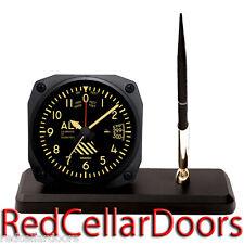 New TRINTEC ALTIMETER Desk Pen Set Vintage Altitude Dial Alarm Clock DS60V Pilot
