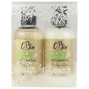 Hemp Body Wash Shower Gel & Body Lotion Cream Bath Gift Set By CB&Co