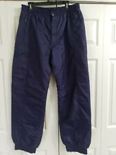 New listing Mens DownHill Racer XLarge(36-40×32)Lined Blue Snowboard Ski Pants good cond.