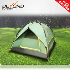 New Double Layer Instant Automatic Pop up camping tent 4 Person Hiking Fishing
