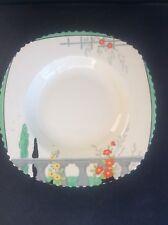 Burleigh Ware Riviera 1932 Art Deco Handpainted Pottery Medm Dessert Cereal Bowl