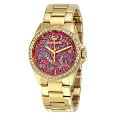 Juicy Couture Laguna Multicolored Pattern Dial Ladies Gold Tone Watch 1901424