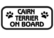 Cairn Terrier On Board Car, Van sticker, decal paw print