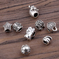 10x 4mm Hole Cat Flower Bear Hair Braid Dread Dreadlock Beads Chic Jewelry Decor
