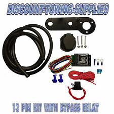 Universal 13 Pin European Electric Towbar Wiring Kit including bypass relay