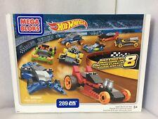 Brand New (Sealed) Hot Wheels Mega Bloks Super Race 8 Car Pack (289 pcs)