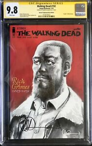 THE WALKING DEAD #192 COMMEMORATIVE EDITION CGC 9.8 SIGNED BY CHARLIE ADLARD