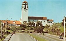 Boise Idaho Union Pacific Railroad Depot~Platt Gardens~Capital Blvd Postcard