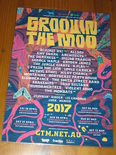 GROOVIN THE MOO 2017 Australian Tour Laminated Poster THE WOMBATS VIOLENT SOHO