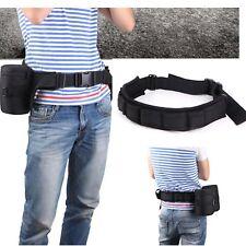 Adjustable Photograph Camera Hang Strap Holder Lens Bag Black Waist Belt Sling I