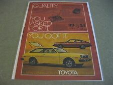 1976 Toyota Corolla SR-5  Liftback -Coupe Original Magazine Ad