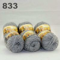 Sale New 6 Skeins x50gr Rainbows Multicolor Hand Knit Wool Yarn Wrap Scarves 33