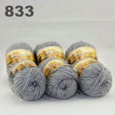 Sale New 6 Skeins x50gr Rainbows Multicolor Hand Knit Wool Yarn Wrap Scarves 33