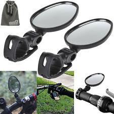 EEEKit 2 Pack Mini Rotaty Handlebar Glass Mirror Rearview for Road Bike Bicycle