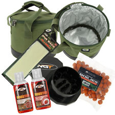 NGT Insulated Bait Tackle Bin & Boilies Crusher Liquids PVA Bag Carp Fishing Set