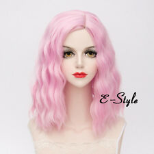 Fashion 40CM Light Pink Lolita Harajuku Medium Curly Women Cosplay Party Wig