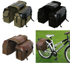 Bike Pannier Bag Bicycle Rear Back Seat Carrier Bag Basket Rack Rain Cover 40L