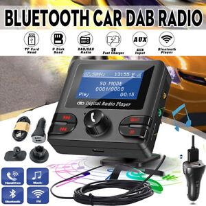 DAB+ Auto Radio Digital Empfänger Adapter Bluetooth FM Transmitter Ladegerät USB