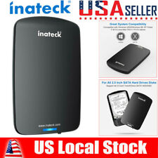 "Inateck 2.5"" SATA USB 3.0 Hard Drive Disk HDD Enclosure External Laptop Case New"