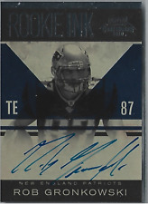 2010 Playoffs Contenders Rookie Ink Auto Rob Gronkowski RC SSP to 50 VERY RARE